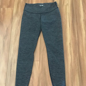 Old Navy Black And Gray Striped Leggings Size M